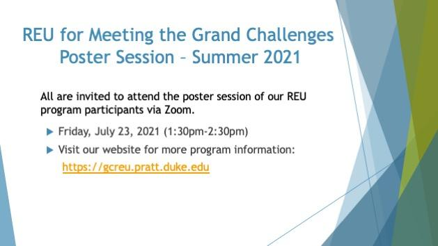 REU for Meeting the Grand Challenges Poster Session - Summer 2021