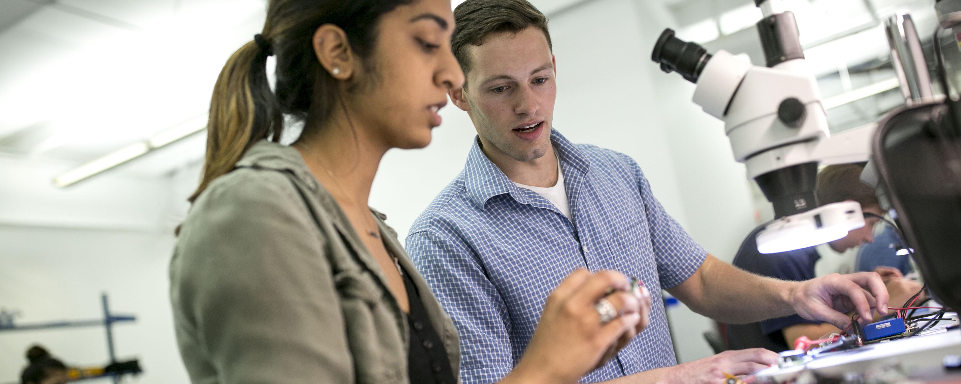 BME design fellows work in a lab