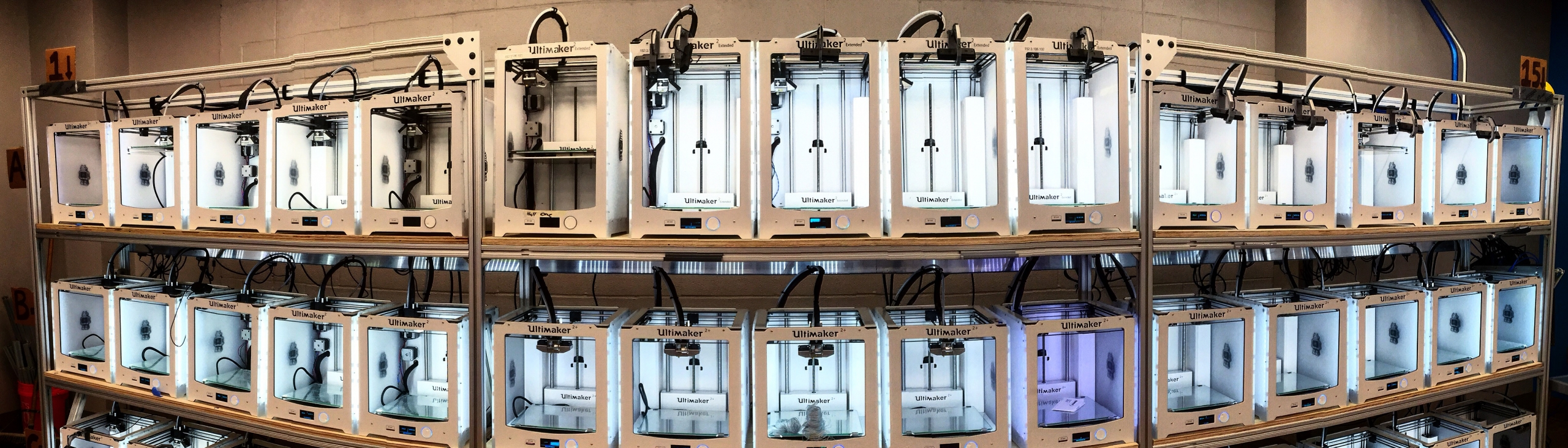 3D printers in the Duke Co-Lab