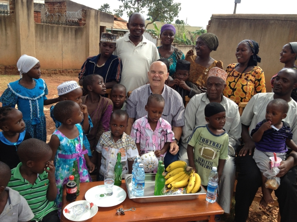 Monty Reichert with colleagues and friends in Uganda.