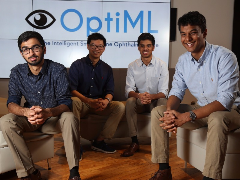Anuj Thakkar, Kevin Zheng, Nikhil Ravi and Pranav Warman of OptiML